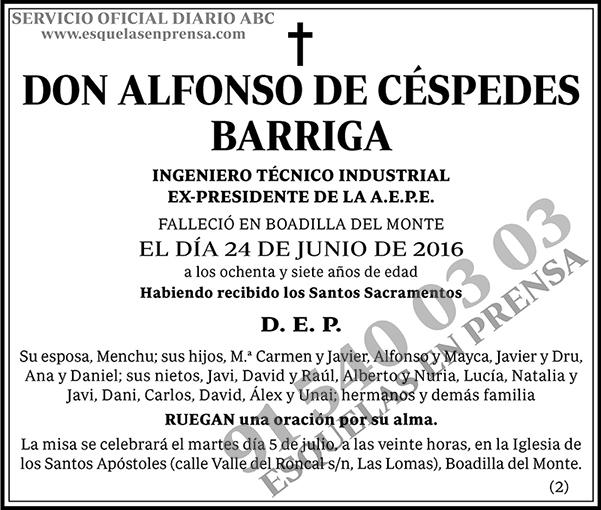 Alfonso de Céspedes Barriga